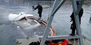Recupero di un natante sommerso