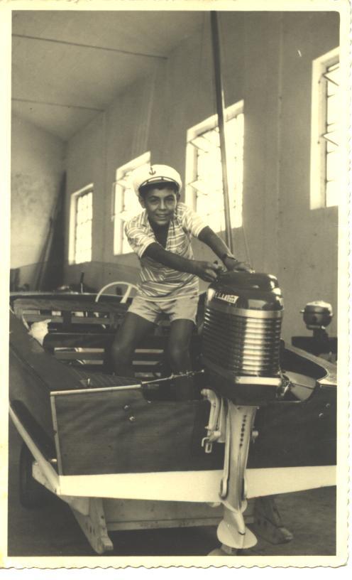 Gianfranco Guini sul motoscafo